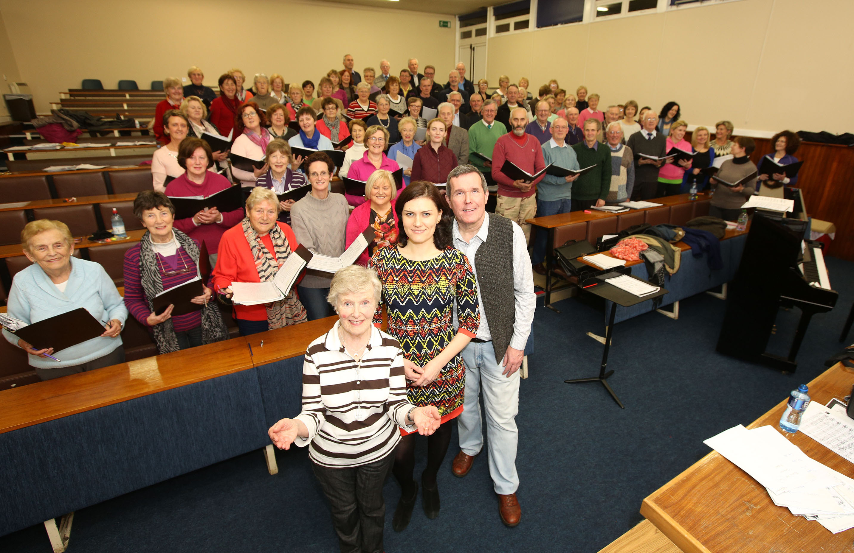 Voices of Limerick rehearsing for thier upcoming concert Classics for Culture
